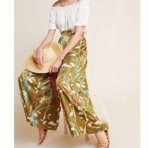 NWT Anthropologie Floral Wide Leg Flowy Pants